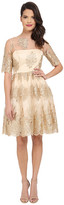 Adrianna Papell Metallic Corded Lace Party Dress