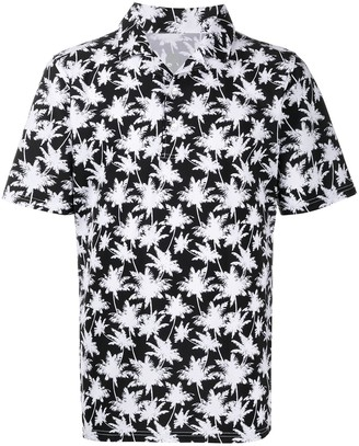 Hydrogen Palm Tree-Print Polo Shirt