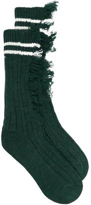 Maison Margiela Distressed Ribbed Socks