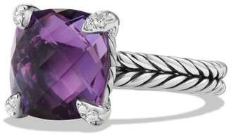 David Yurman Chatelaine Ring with Gemstone & Diamonds/11mm
