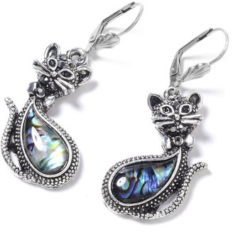 Shop Lc 925 Sterling Silver Stainless Steel Abalone Shell Crystal Earrings
