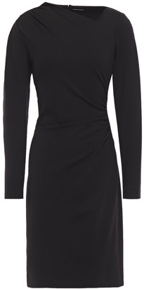 Elie Tahari Mozelle Asymmetric Ruched Ponte Dress