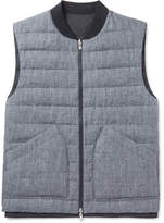Brunello Cucinelli Reversible Slub Linen and Tech-Shell Down Gilet