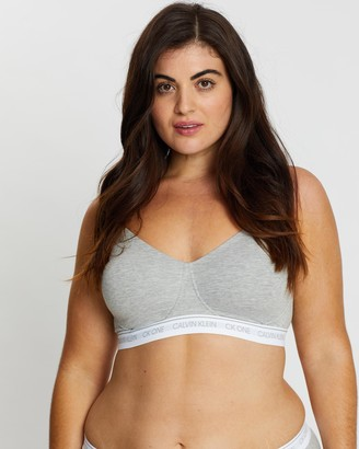Calvin Klein One Cotton Lightly Lined Bralette PLUS