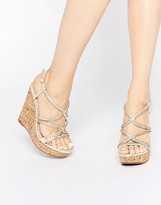 Asos TERRIFIC Embellished Wedge Sandals