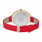 Laura Ashley Womens Geo Print Dial Red Strap Watch-La31023yg