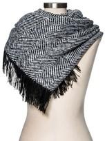Merona Women's Blanket Scarf Black Herringbone