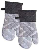 +Hotel by K-bros&Co HOTEL Fancy Program Pair of Oven Mitts, 7 x 13, Grey, 2 Piece