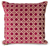 "Jay Strongwater Trellis Pattern Pillow, 20""Sq."