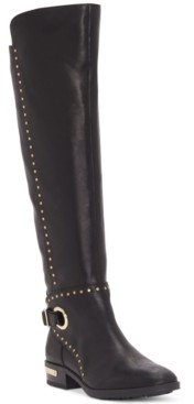 Vince Camuto Women's Poppidal Stretch Riding Boots Women's Shoes