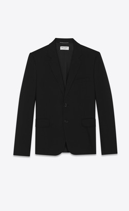 Saint Laurent Blazer Jacket Single-breasted Jacket In Gabardine Black 34