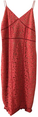 MANGO \N Orange Cotton Dress for Women