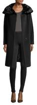 Cinzia Rocca Wool Fur Trim Coat
