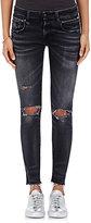 R 13 Women's Biker Boy Distressed Skinny Jeans