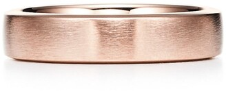 Tiffany & Co. Essential Band satin finish ring in 18ct rose gold, 5 mm wide