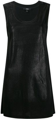 Diesel Foiled tank top with slashed back