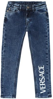 Versace Kids Logo skinny jeans