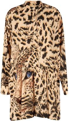 MSGM Tiger Print Dress