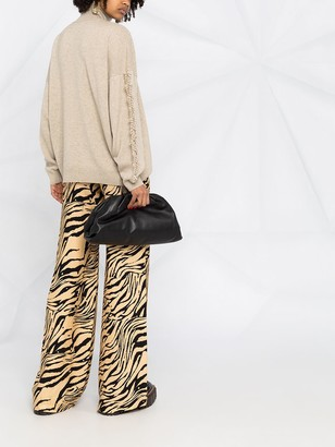 Barrie Textured Sleeve Cashmere Jumper