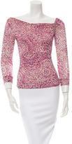 Diane von Furstenberg Printed Silk Top