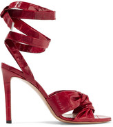 Altuzarra Zuni Knotted Eel Sandals - Red