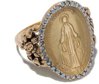 Feidt Paris 9kt yellow gold Madonna sapphire ring