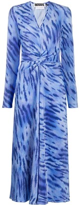 Rotate by Birger Christensen Sierra abstract printed dress