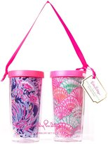 Lilly Pulitzer Insulated Tumbler with Lid Set - Oh Shello/Shrimply Chic - 16 oz - 2 pc