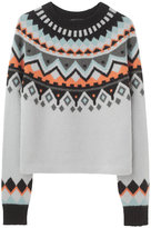 Proenza Schouler Intarsia Long Sleeve Pullover