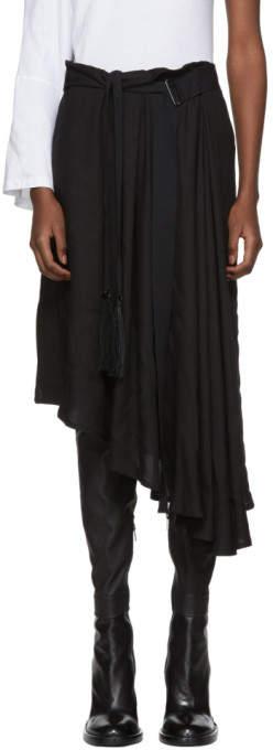 Ann Demeulemeester Black Infinity Mid Skirt