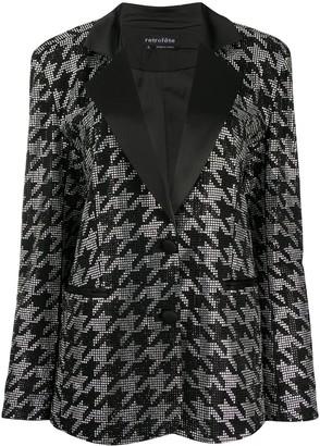 retrofete Houndstooth Gem-Embellished Blazer