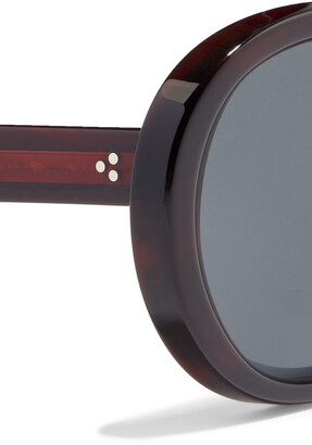 Oliver Peoples Leidy Oversized Round-frame Acetate Sunglasses