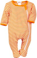 Beanstork Organics by Coccoli Organic Striped Zip Footie (Baby)
