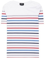A.P.C. Striped cotton t-shirt