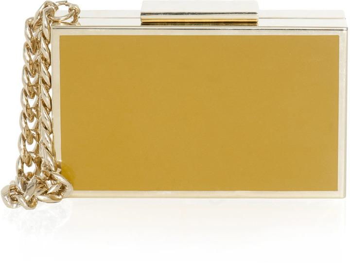 Lanvin Bi-colour cigarette case box clutch