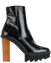 Stella McCartney contrast heel ankle boots - women - Polyurethane/rubber - 35
