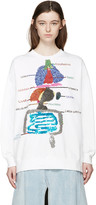 Ashish White Sequin Biology Pullover