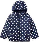 Benetton Girls Padded Reversible Hooded Coat