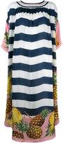 Dolce & Gabbana striped pineapple dress - women - Silk - 44