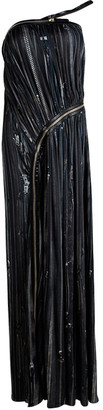 Jean Paul Gaultier Femme Multicolor Gathered Zip Detail Maxi Dress S