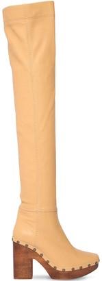 Jacquemus 110mm Les Bottes Sabot Leather Boots