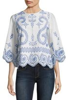 Tory Burch Mariana Broderie Anglaise Top