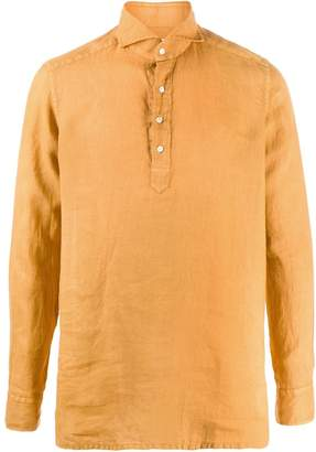 Tagliatore loose-fit linen polo shirt