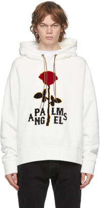 Palm Angels Off-White Red Rose Hoodie