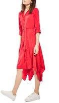 Topshop Women's Handkerchief Hem Midi Shirtdress