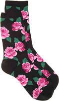 Hot Sox Women's Rose Women's Crew Socks