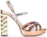 L'Autre Chose ankle length sandals - women - Leather/Patent Leather/metal - 41
