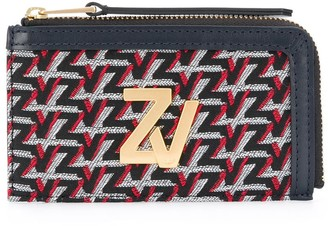 Zadig & Voltaire Logo-Embroidered Leather Wallet