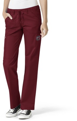 Unbranded Women's Garnet South Carolina Gamecocks Straight Leg Scrub Cargo Scrub Pants
