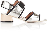 Marni Women's Metallic Double-Band Sandals-SILVER